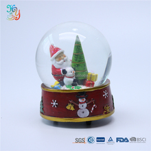 Resin base christmas decorative crystal ball glass snow globe