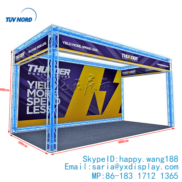 China exhibit truss displays booth for trade show truss trade show exhibit display 10x20 custom for tradeshow equipment