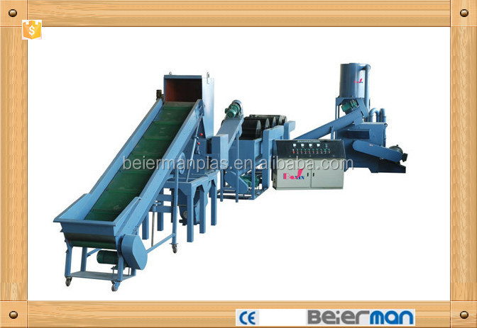 PP PE plastic film washing/recycling line