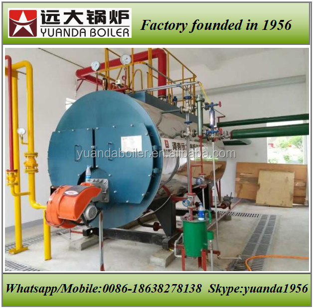 4ton gas oil steam boiler for juice drying and cheese factories