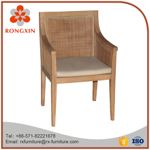 antique wooden rattan chair for living room