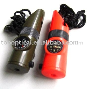 Survival Whistle LED Thermometer Compass