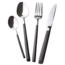 NK MY BS1005 High polished black coating handle stainless steel tableware cutlery set flatware for dinner