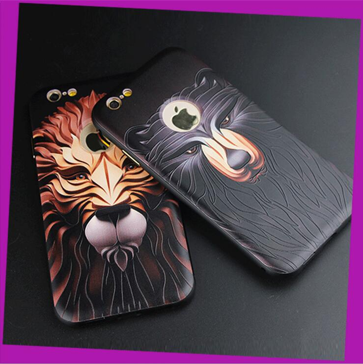 High Quality 3D Relief Printing PC Back Cover Metal Bumper Case for Iphone 5 / 6 / 6 Plus Customize Design