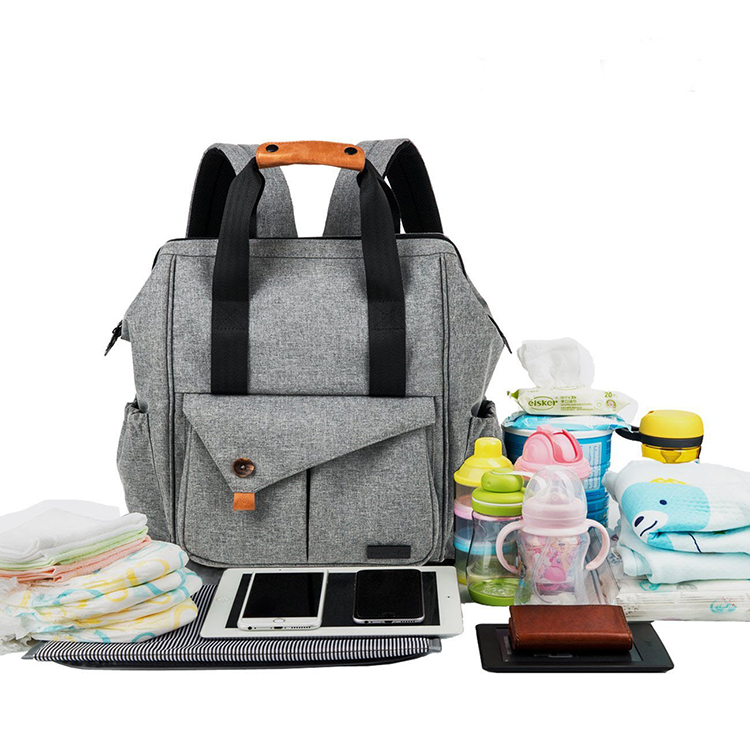 Multifunctional Waterproof Mummy Adult Baby Land Love Daddy Diaper Tote Backpack Bag