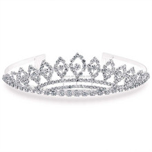 silver royal crown princess rhinestone bridal tiara