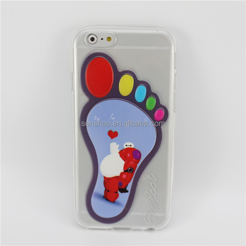 big foot cartoon tpu case hot sale for iphone6 Wholesale shenzhen