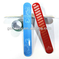 new products for 2013 OEM promotion gift pvc lint blank slap bracelet
