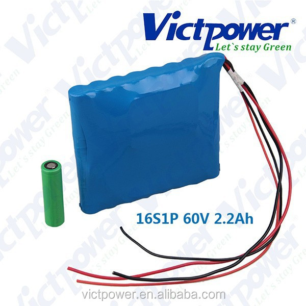 victpower 16s1p 60v 2.2ah battery pack of Unicycle K8