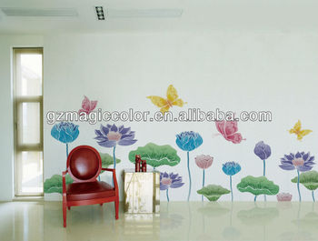 water lily painting vinyl peel and