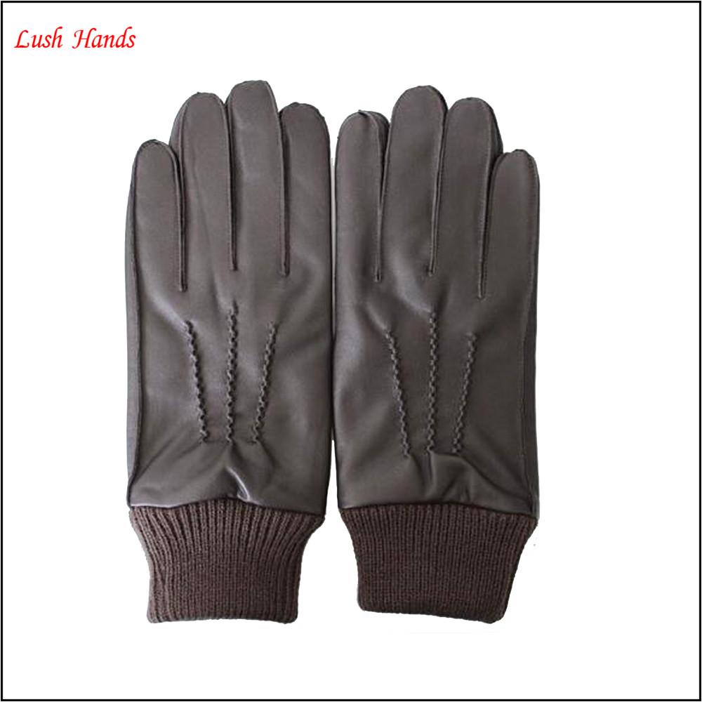 Mens leather gloves adelaide - Men Winter Warm Leather Gloves