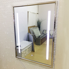 luxury stainless steel LED bathroom mirror