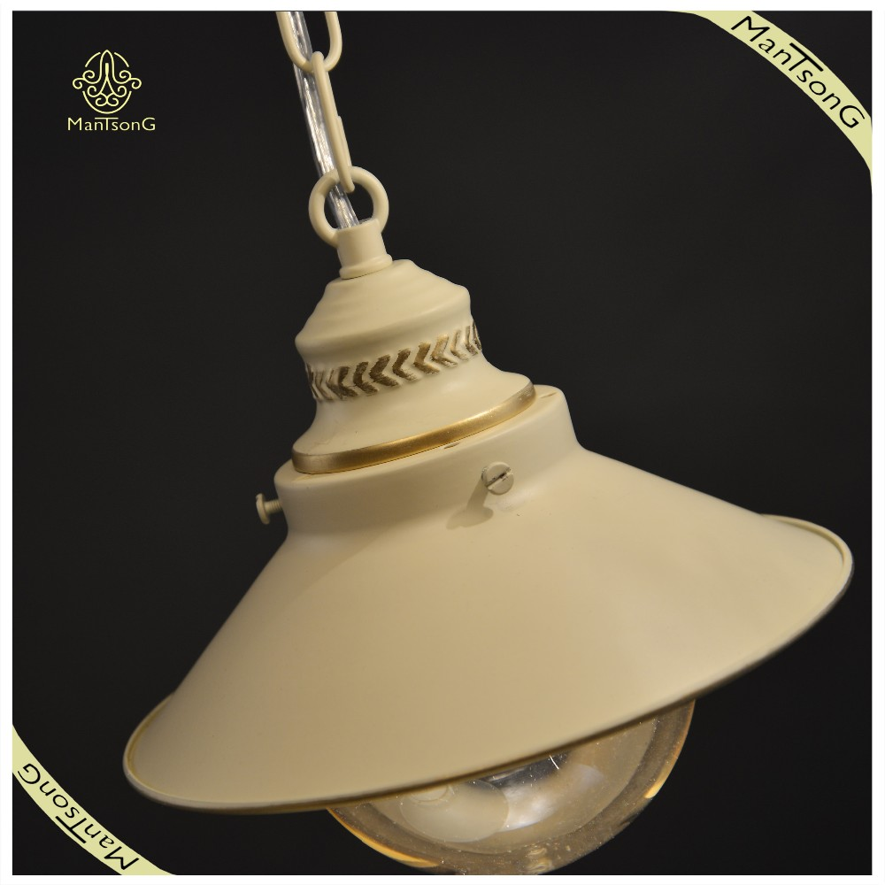 Interior Decorative Iron Material and E27 Light Source Pendant Lamp Glass Hanging Lamp