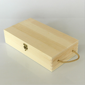 Custom red wine wooden box double branch red wine wooden box