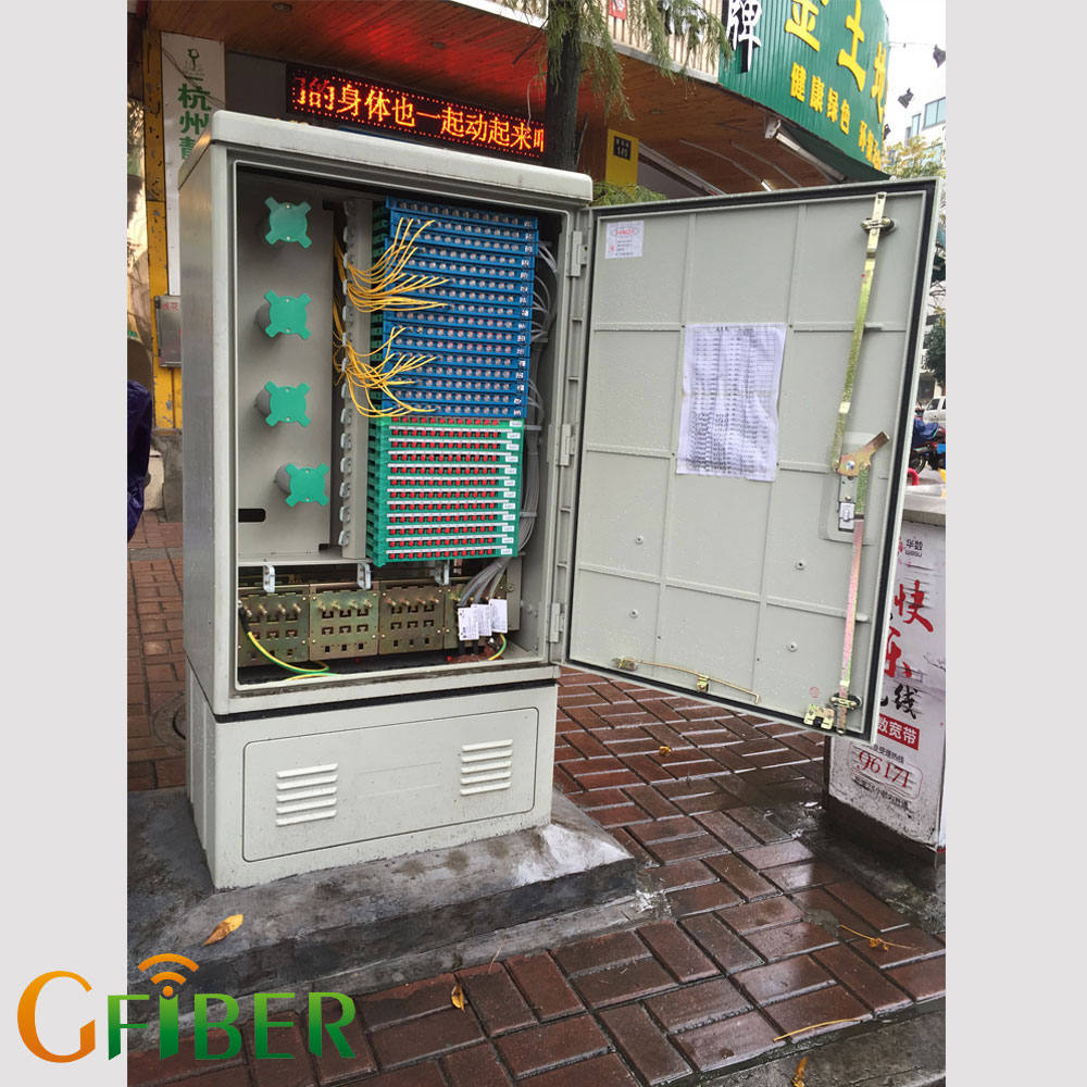Gfiber wall mounted small communication outdoor cabinet