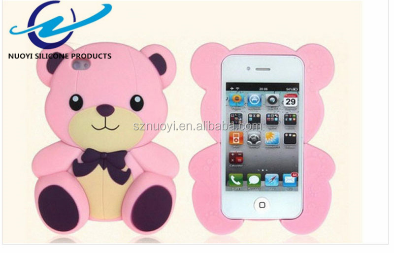 Cute Teddy Bear Silicone Mobile Phone Case