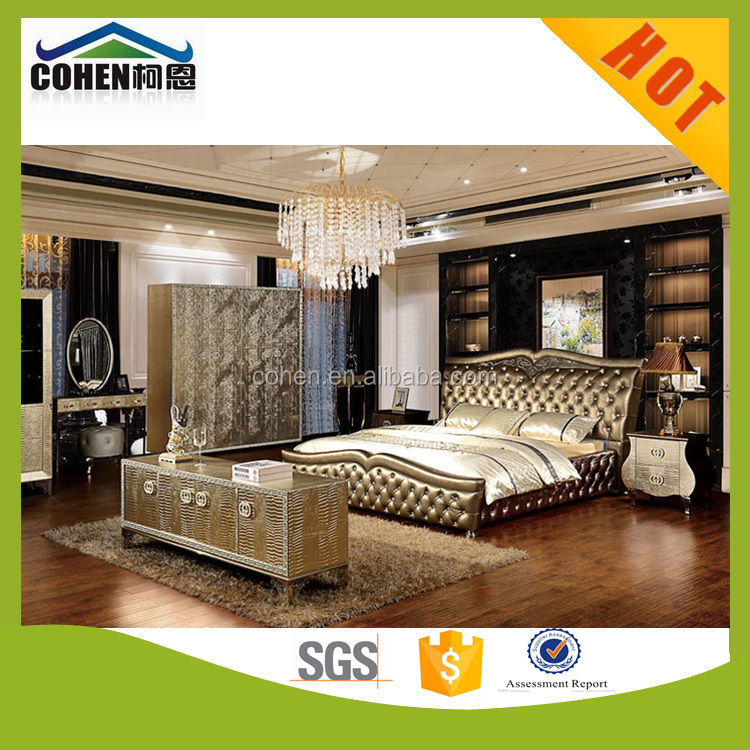 2016 hot sale home used furniture leather bed YC030