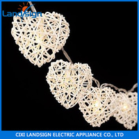 XLTD-124 led light bulbs LED wedding party outdoor light cream hearts solar string lantern