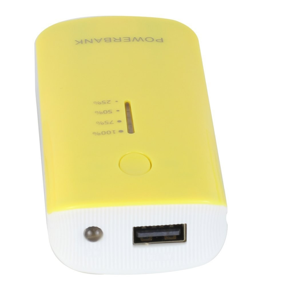 power bank 5200mah led light , portable power bank double usb port charger