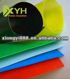 Colored pp plastic rigid films