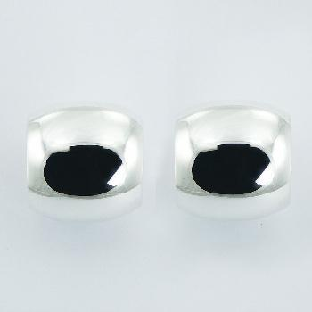 Plain Hallmarked 925 Sterling Silver Wide Stud Earrings