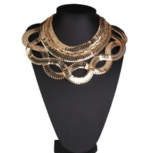 Europe and the United States big exaggerated alloy necklace link chain necklace chocker necklace