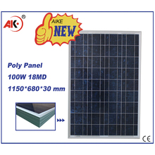 poly 100w solar panel broken cells