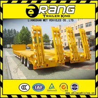 low bed semi trailer to transport bulldozers, excavators, transformer, generator, construction mach