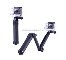 Cheap Price Selfie Accessories for SJ / for Xiaomi yi / for GoPros Adjustable Handheld Monopole 3 way Foldable Tripod Mount