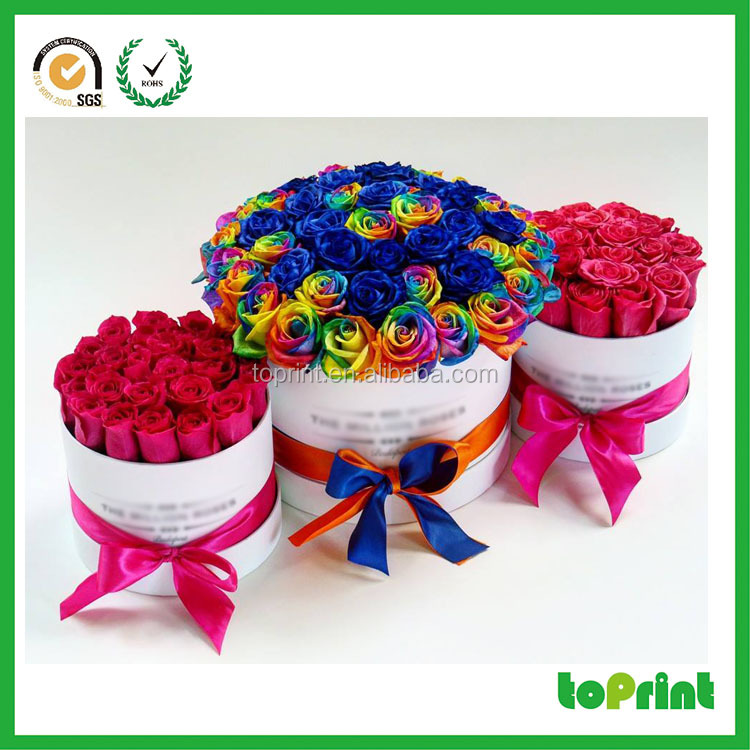 Luxury round square heart different shape flower box hat gift box