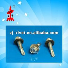 slotted hex washer head self drilling screws