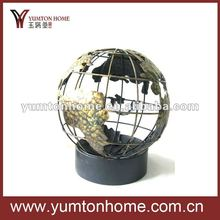 Metal decorative world Globe