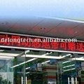 4.8X.0.16m P10mm semi-outdoor single color red led bank display for scrlling message