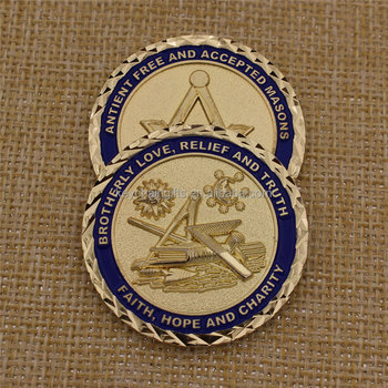 Custom souvenir metal masonic cheap challenge coins