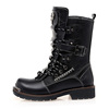 stitched heels 9 inch water resistant tactical gear police boots for military