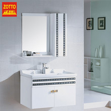 Famous brand hanging wall washbasin hotel bathroom furniture dressing mirror cabinet with ceramic basin low price