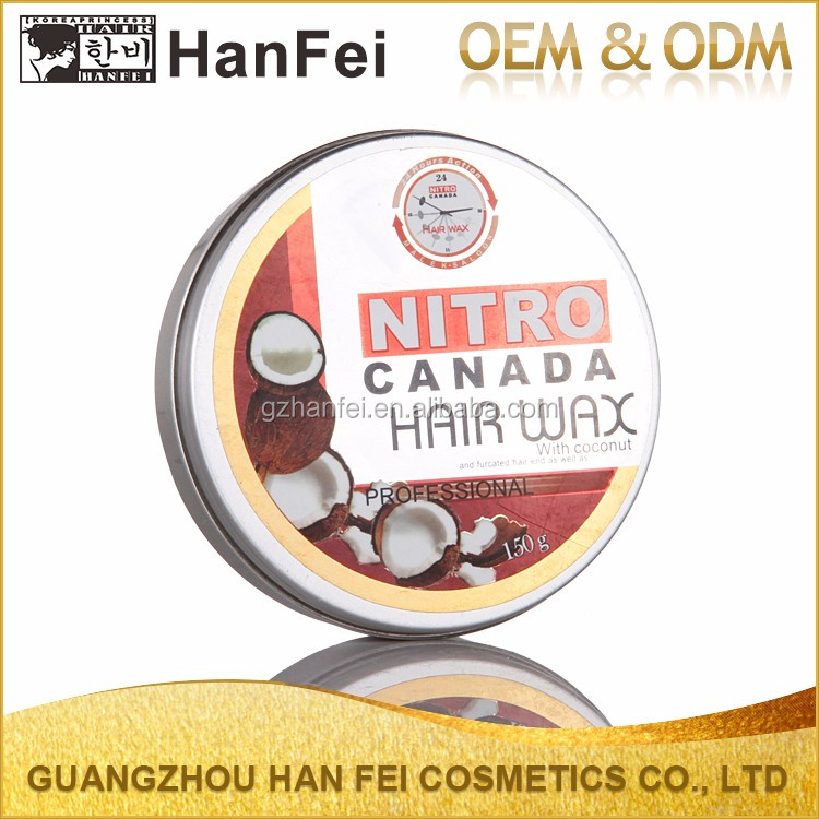 Super hold cocount hair sytling wax fashion professional olive hair wax