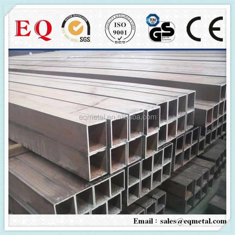 Square tube 200x200 mm welded/seamless steel tube q235 ms carbon black steel square tube