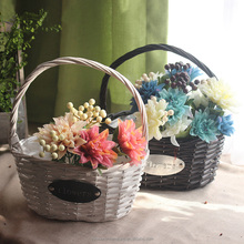 2017 hot sale Wicker basket flower girl basket for gift
