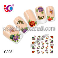 2014 new designs fashion nail art sticker nail accessories plastic nail color chart