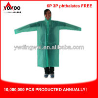 Womens Long PVC Raincoat
