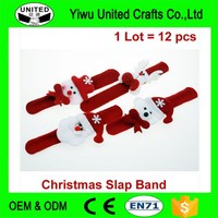 Promotion gifts kids led slap bracelet for christmas festival
