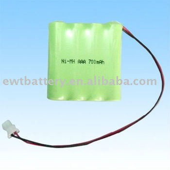 Safe popular NIMH AAA 4.8V 700mAh battery pack for Bluetooth headsets,