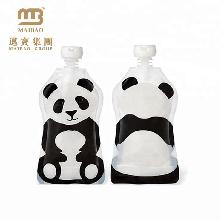 China Custom Made Printing Laminated Plastic Reusable Clear Disposable Water Nozzle Pouch Bag For Kids Drinking