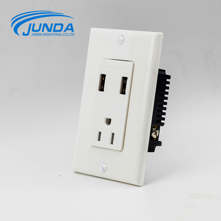 UL Approved certificated wholesale electric wall socket with usb port