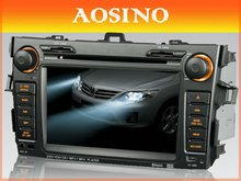 Aosino double din specail car dvd player / car radio / car audio for TOYOTA Corolla 2007-2011 with GPS navigation map