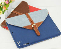 Wallet style tablet leather case snap on smart cover flip case for tablet case for ipad 5