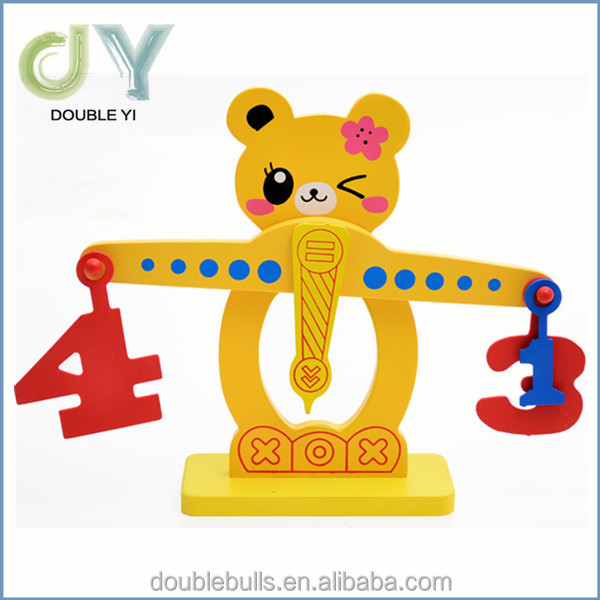 New wooden education toys, hot sale wooden scale balance toy,high quality wooden balance toy