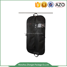 Top quality double handle transparent window clothes packing bag,suit bags