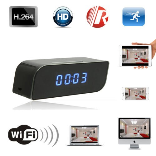 Mini Wireless IR Security Network DVR Wifi IP 720P HD Clock Camera Hidden
